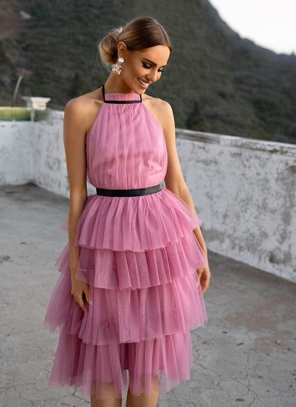 Sukienka ZOYA- pudrowy róż