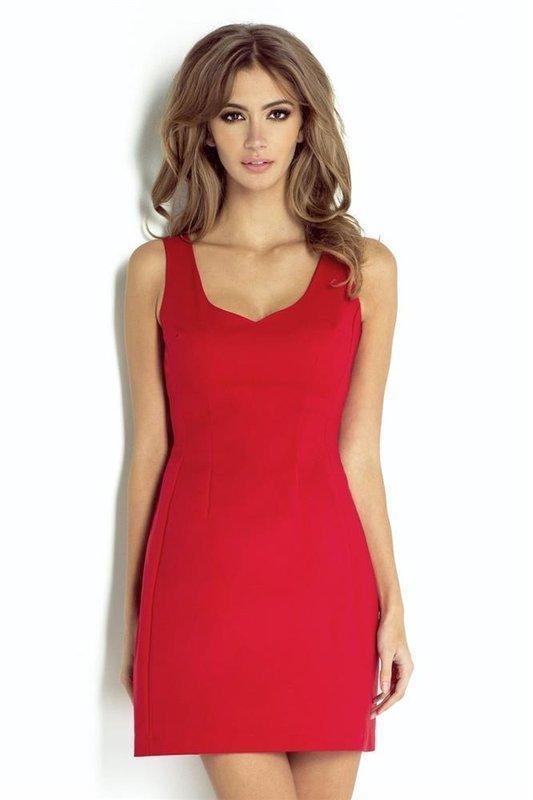 alice krótka wizytowa czerwona sukienka na ramiączkach sylwestra