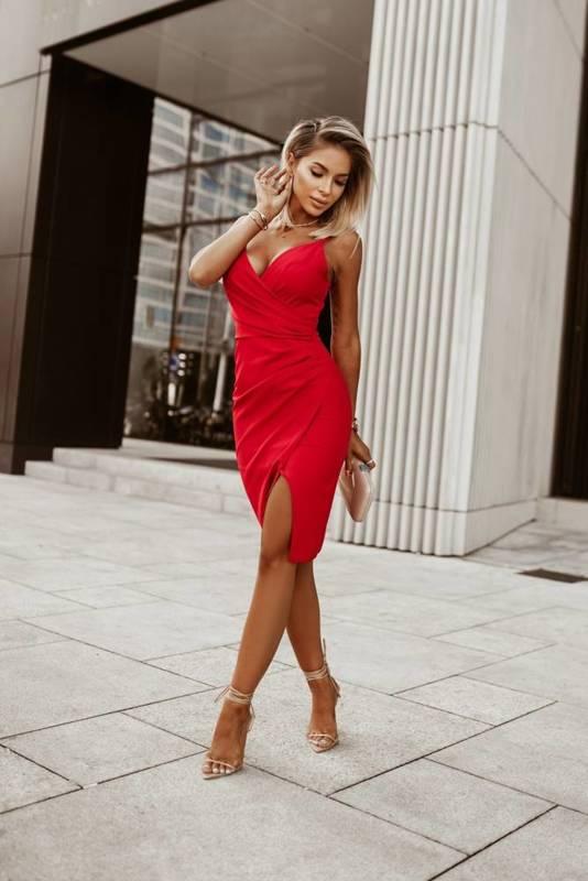 Krótka Sukienka Laura II- rubin