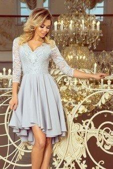 NICOLLE - sukienka z dłuższym tyłem - szary