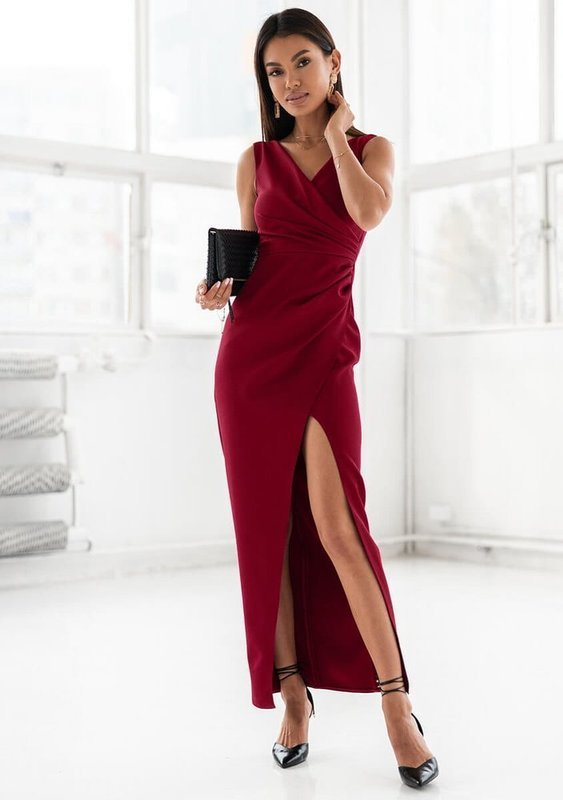 Sukienka Laura- bordowy
