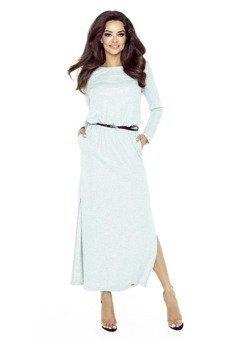 Sukienka maxi z koronkowym tyłem
