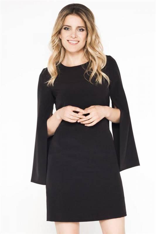 clarissa czarna   sukienka jednokolorowa   na studniówkę