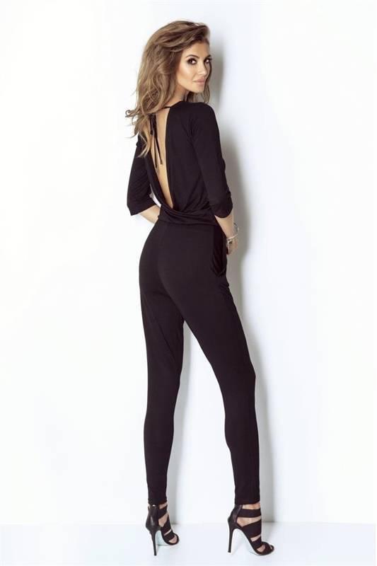 czarna dresowy kombinezon damski erine na co dzień