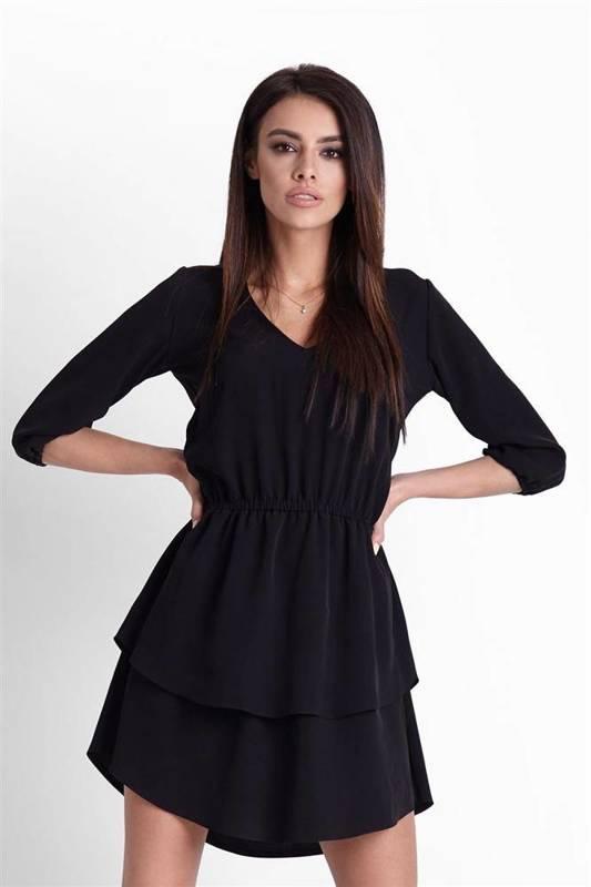 lucinda mała czarna sukienka rozkloszowana na co dzień boho