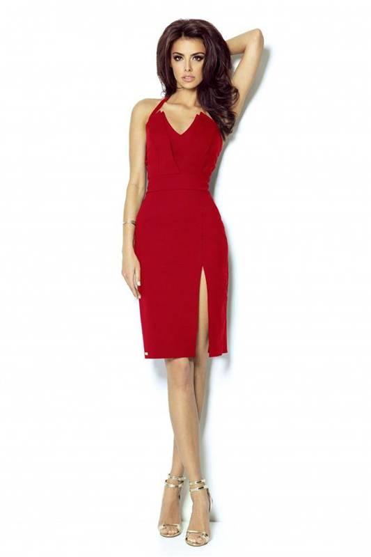 niki czerwona wizytowa mini sukienka ołówkowa na imprezę