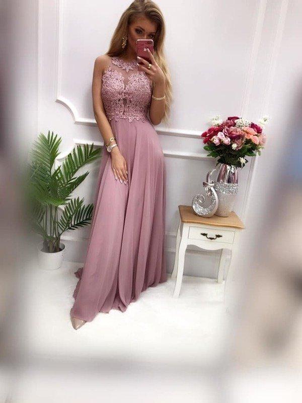 Długa Sukienka BUGATTI  - wrzosowy