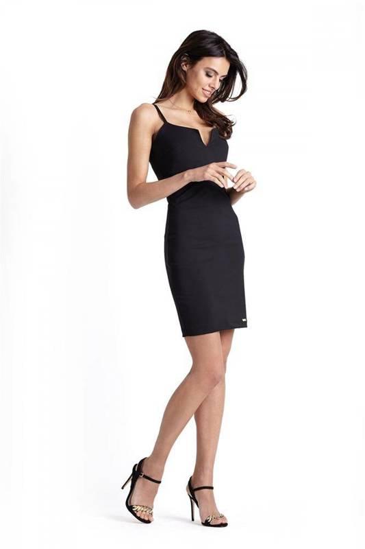 Klasyczna  cindy z zipem mała czarna sukienka ołówkowa na imprezę