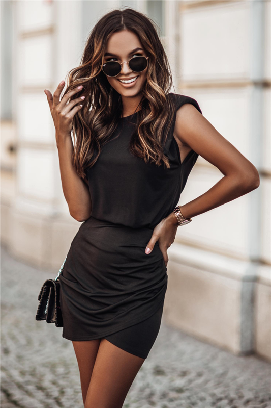 Komplet jessa mała czarna   sukienka  ołówkowa  do pracy