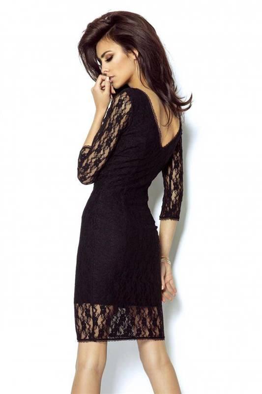Koronkowa  karla mała czarna wizytowa sukienka