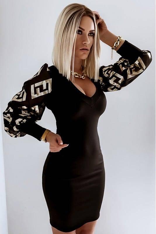 Sukienka Fendi z Bufkami Gold
