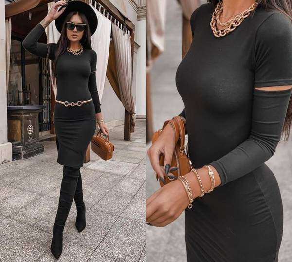 Sukienka Merc- czarny