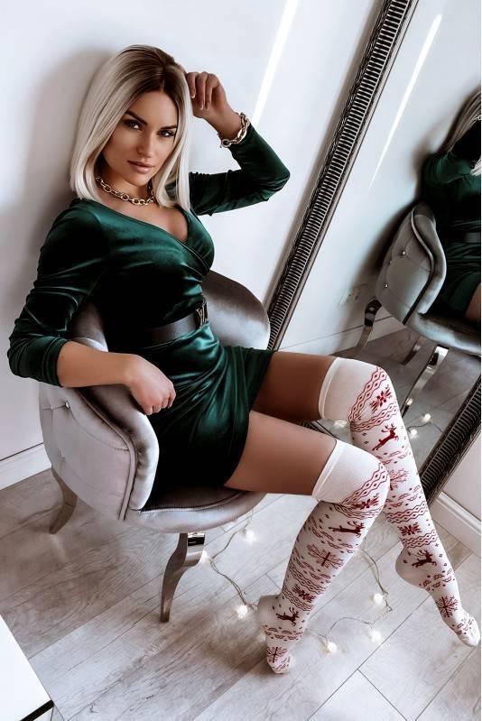 Sukienka Mini Velvet Szmaragd