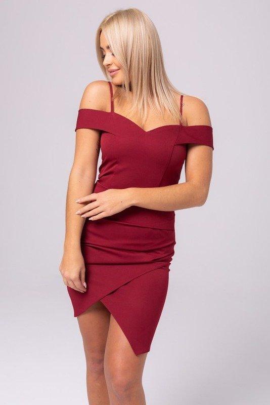 Sukienka SOFI- bordowy