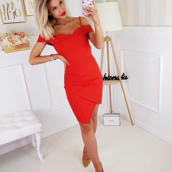 Sukienka SOFI- czerwony