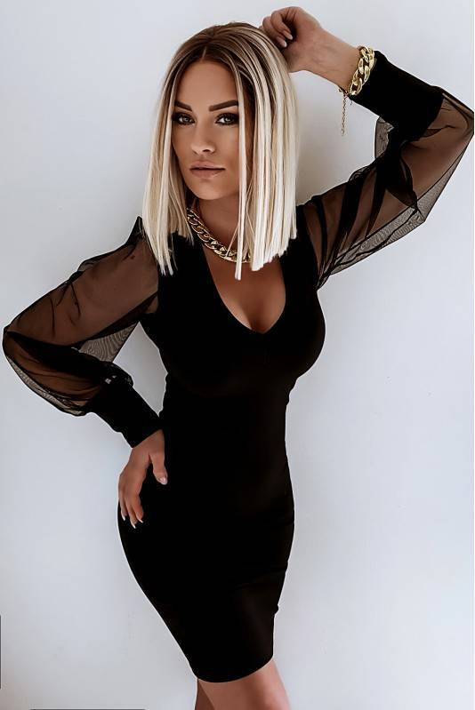 Sukienka z Bufkami  Black